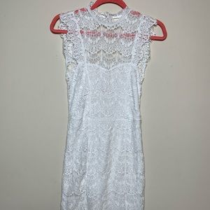 White Lace Free People Dress